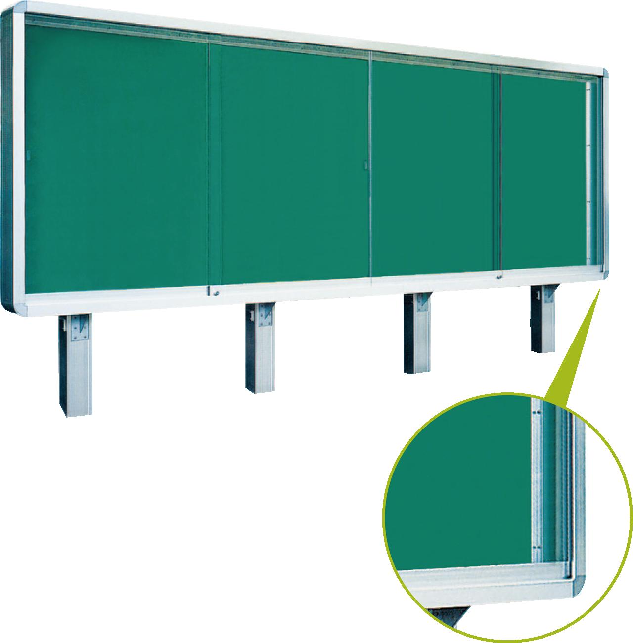 アルミ製大型野外掲示板(D150タイプ)