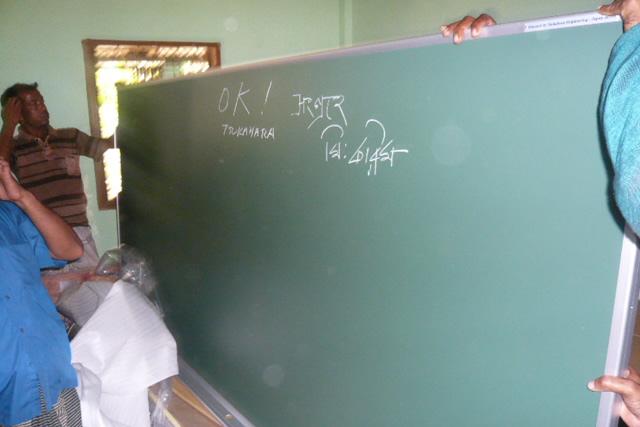 お客様の声 バングラデシュの小学校に日本製黒板を寄付 岐阜県 ツカハラ エンジニアリング コーポレーション様
